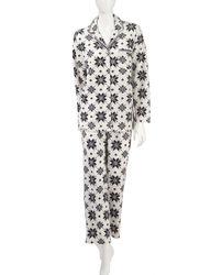 Hannah 2pc Snowflake Folded Pajama Set - c - Size: Large
