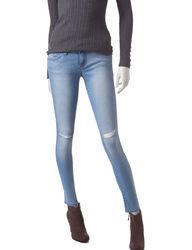 YMI Wanna Women's Light Wash Ripped Jeans - Denim Blue - Size: 13