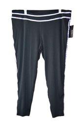 L.A. Threads Women's Plus-sizes Contrast Stripe Yoga Pants - Black - 1X