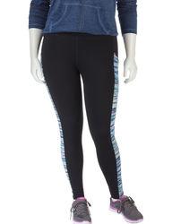 Women's Plus-Sizes Color Block Accent Print Yoga Pants - Multi - Size: 3X