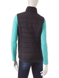 Just One Women's 2 Piece Top & Puffer Vest - Mint /Black - Size: Medium