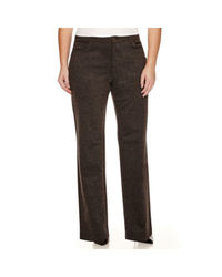 Gloria Vanderbilt Women's Amanda Ponte Pants - Heather Grey - Size: 16W