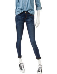 Almost Famous Women's So-Soft Stretch Skinny Jeans - Dark Wash - Size: 11