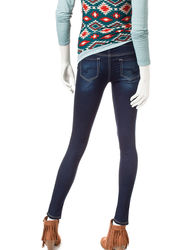 YMI Junior Girls 3 Button High Waistband Skinny Jeans - Blue - Size: 11M