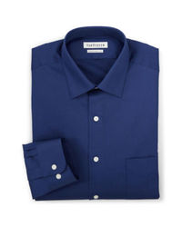 Van Heusen Men's Solid Color Lux Dress Shirt - Blue - Size: 17 1/2 X 32/33