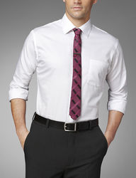 """Van Heusen Men's Solid Color Fitted Lux Dress Shirt - White - Size: 15"""""""