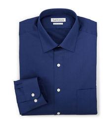 Van Heusen Men's Lux Solid Color Fitted Dress Shirt - Blue - Sz: 15X32/33