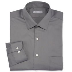 Van Heusen Men's Solid Color Lux Dress Shirt - Grey - Size: 15""