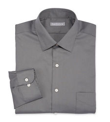 Van Heusen Men's Lux Solid Color Dress Shirt - Grey - Size: 17 1/2 X 34/35