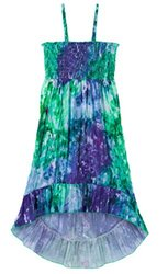 Squeeze Girl's Convertible Maxi High-low Dress - Green/Blue - Size: 6-7