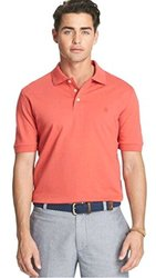 Izod Men's Heritage Solid Pique Polo T-Shirt - Cranberry - Size: Large