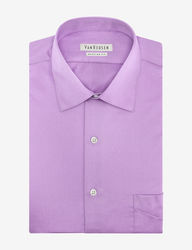 Van Heusen Men's Solid Color Lux Dress Shirt - Lilac - Size:16 1/2-34/35