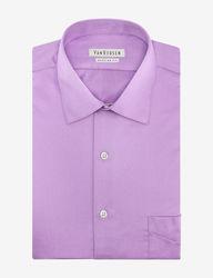 Van Heusen Men's Solid Color Lux Dress Shirt - Lilac - Size: 17 X 34/35