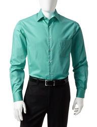 Van Heusen Men's Solid Color Lux Dress Shirt - Green - Size:15 1/2 X 34/35