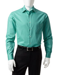 Van Heusen Men's Solid Color Lux Dress Shirt - Green - Size: 17 X 32/33