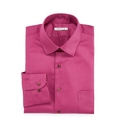 Van Heusen Men's Lux Dress Shirt - Dark Pink - Size: 15 1/2 X 34/35
