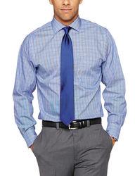Arrow Men's Plaid Dress Shirt - Blue - Size: 16-34/35