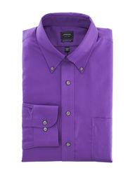 Arrow Men's Solid Color Dress Shirt - Violet - Size: 17 x 34/35