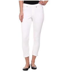 Hue Women's Denim Capri Leggings with Ankle Slits - White - Size: XS