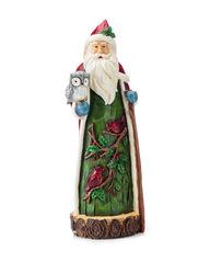 Jingle Bell Lane Santa with Owls & Birds Christmas Decor - Green