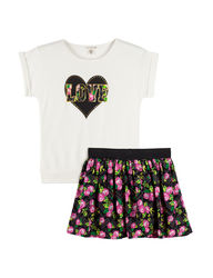 One Step Up Girls Kids 2Pc Love Scooter Set- Beige - Size: 10/12