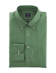 Arrow Men's Solid Color Dress Shirt - Forest - Size: 17 X 34/35