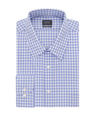 Arrow Men's Gingham Plaid Dress Shirt - Blue - Size: 17 X 32/33