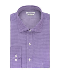 Van Heusen Men's Iris Lux Sateen Dress Shirt - Lavender - Size: 17.5""