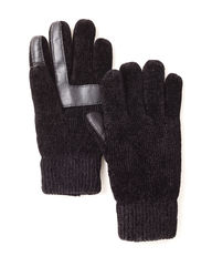 Isotoner Unisex Solid Color SmarTouch Chenille Gloves - Black