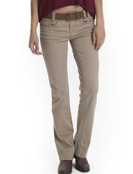Unionbay Girls Gabi Bootcut Twill Jeans - Beige - Size: 9