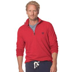 Chaps Men's Big & Tall 1/4-Zip Sweater - Red - Size: XL Tall