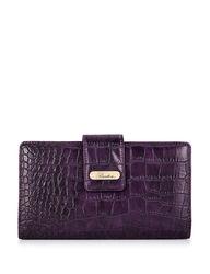 Buxton Nile Exotics Heritage Super Wallet - Purple - Size: One