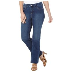 Women's Solid Color Jordyn Super Stretch Jeans - Dark Blue - Size: 10P