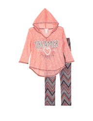 One Step Up 3/4 Sleeve Hoodie - Pink - Size: Large