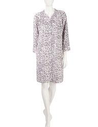 Rebecca Malone Women's Cheetah Print Minky Duster Top - Multi - Size:Large
