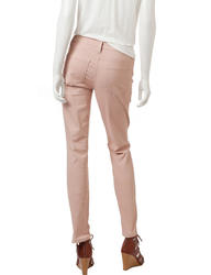 Hannah Women's Solid Color Skinny Jeans - Pink - Size: 6