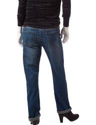 Earl Jean Women's Petites Ringspun Boyfriend Jeans - Blue - Size: 10P