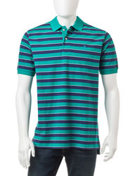 U.S. Polo Assn. Men's Thick Bar Striped Polo Shirt - Green - Size: Small