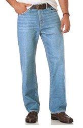 Chaps Men's Classic Straight Fit Jeans - Light Stonewash - Size: 38x34