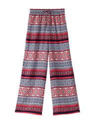 My Michelle Big Girls Geometric Soft Pants - Red - Size: Large