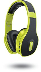 Sharper Image SBT559LM Universal Wireless Bluetooth 4.0 Headphones with Mic, Lime