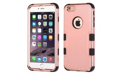 Insten Tuff Hybrid Silicone Case For iPhone 6/6s plus - Rose Gold/Black