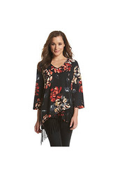 Oneworld Floral Fringe Top