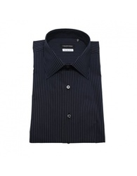 Valentino Men's Slim Fit Cotton Dress Shirt - Blue - Size: 17.5""
