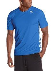 Adidas Performance Men's Basketball Short Sleeve T-Shirt - Bright Royal
