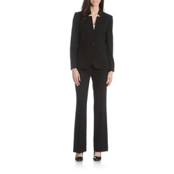 Tahari ASL Women's Inverted Collar Pant Suit - Black - Size: 6