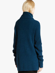 Halston Heritage Women's Oversized Wool Sweater - Dark Teal - Size: S