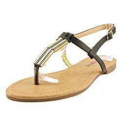 Dollymix Women's Ella-90 Thong Sandal - Black - 8