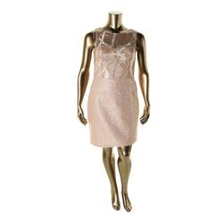 Kay Unger Women's Metallic Sequined Cocktail Dress - Pink - Size: 10