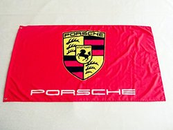 Porsche Flag 3' x 5' Porsche Car Banner - Red